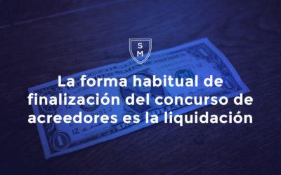 Concurso de acreedores. Finalización. Liquidación.