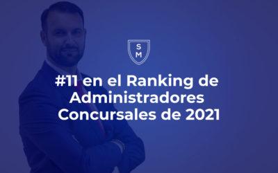 11 en Ranking de Administradores Concursales de 2021